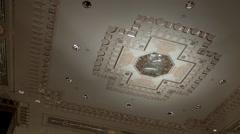 Waldorf Astoria Lobby Ceiling. Waldorf Lobby in New York City. Stock Footage