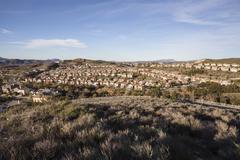 California Suburban Community - stock photo
