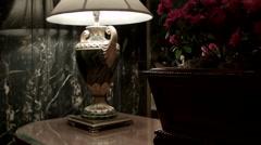 Waldorf Astoria Lobby lamp. Waldorf Astoria Lobby in New York City. Stock Footage