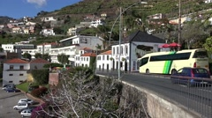 4k Camara de Lobos fishing village Madeira panorama pan Stock Footage