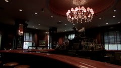 Waldorf Astoria Hotel. Bull and Bear Restaurant. Famous NYC Bar and Restaurant Stock Footage