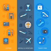 Stock Illustration of Airport Banner Set