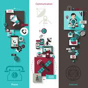 Communication Banner Set Stock Illustration