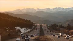 Interstate to the Rockies Stock Footage