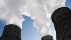 Stock Footage Steam From Cooling Towers Stock Footage