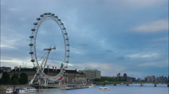 Storm clouds over London Eye - 4K Timelapse Stock Footage