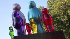 The Jelly Baby Sculpture London 4 Stock Footage