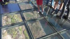 4k Glass bottom tilt up Madeira sightseeing Cabo Girao Stock Footage