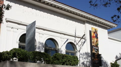 Santa Barbara California – State Street 5 - Santa Barbara Museum of Art Stock Footage