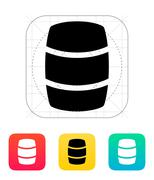 Beer barrel icon Stock Illustration