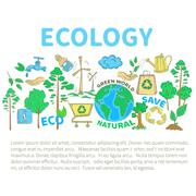 Stock Illustration of Doodles Ecology Set
