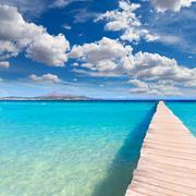 Majorca Platja de Muro beach Alcudia bay Mallorca - stock photo