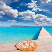 Majorca Platja de Muro beach Alcudia bay Mallorca - stock photo