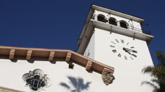 Santa Barbara California – City Courthouse and Clock Tower 3 Stock Footage