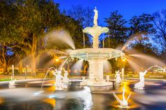 Forsyth Park in Savannah Georgia Stock Photos