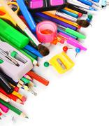School tools and accessories . - stock photo