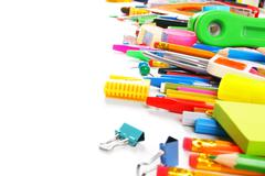 School tools and accessories. - stock photo