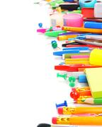 School tools and accessories - stock photo