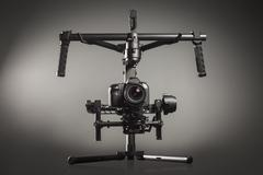 Video production stabilization gimball slr mount - stock photo