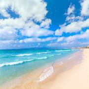 Majorca sArenal arenal beach Platja de Palma - stock photo