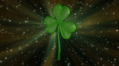 St Patrick's Day clover loop. HD1080p Stock Footage