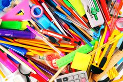 Stationery and school accessories Stock Photos