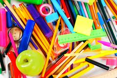 Stationery and school accessories - stock photo