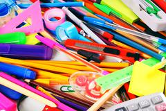Stationery and school accessories. - stock photo