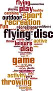 Flying disc word cloud - stock illustration
