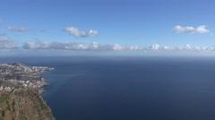 4k Madeira seascape panorama sightseeing Cabo Girao Stock Footage