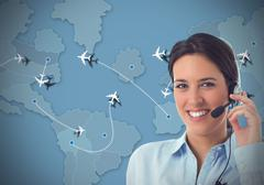 Airlines  call center Stock Photos