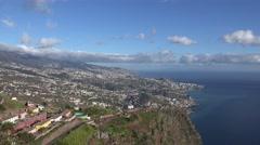 4k Madeira panorama view sightseeing Cabo Girao Stock Footage
