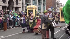 St Patricks Day Parade Dublin Roleplay Stock Footage