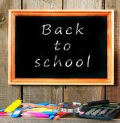 Back to school. School accessories . Stock Photos