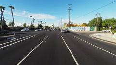 POV Driver On Beach Boulevard In Stanton CA Stock Footage