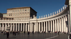 St. Peter's Square panorama at Christmas. Vatican City. - stock footage