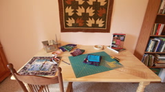 Sewing table dolly Stock Footage