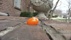plastic egg smash hammer - stock footage