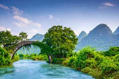 Dragon Bridge of Yangshuo, China Stock Photos