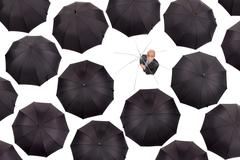 Businessman without shelter - stock photo