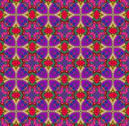 Violet -red ethnic patterns Stock Photos