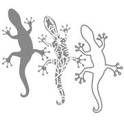 Silhouettes of salamander Stock Illustration