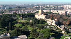 Administration building and radio masts of  Vatican Radio Stock Footage