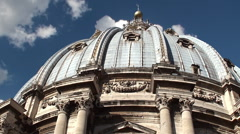 Dome of St. Peter's Basilica. Timelapse. Vatican City. Stock Footage