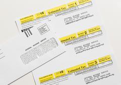 US IRS Tax form 1040-ES Kuvituskuvat