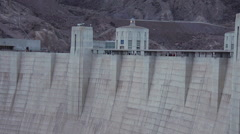 Time Lapse of Hoover Dam people walking - stock footage