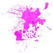 Watercolor splashes on the white - stock photo