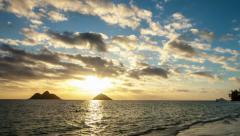 Lanakai sunrise zoom rays Stock Footage
