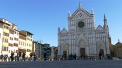 TL 4K Italy Tuscany Toscana Florence square Piazza Santa Croce Basilica of Santa Stock Footage