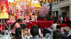 Festive events dedicated to Chinese New Year, George Town, Malaysia - stock footage